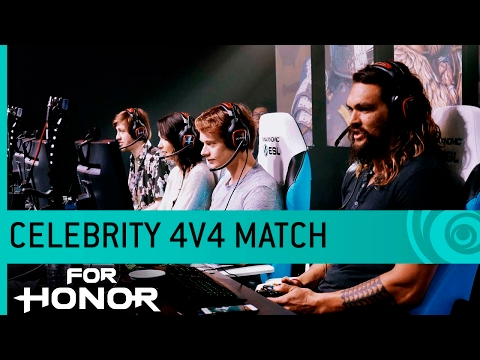For Honor Gameplay: Celebrity Match with Jason Momoa, Lauren Cohan, Alfie Allen & Demetrious Johnson