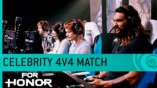 For Honor Gameplay: Celebrity Match with Jason Momoa, Lauren Cohan, Alfie Allen & Demetrious Johnson thumbnail
