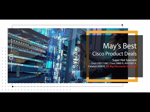 May's Brand NEW Cisco Products Based on Sales - Up to 79% Off
