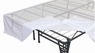 Video Night Therapy Platform Metal Bed Frame Foundation Set Queen