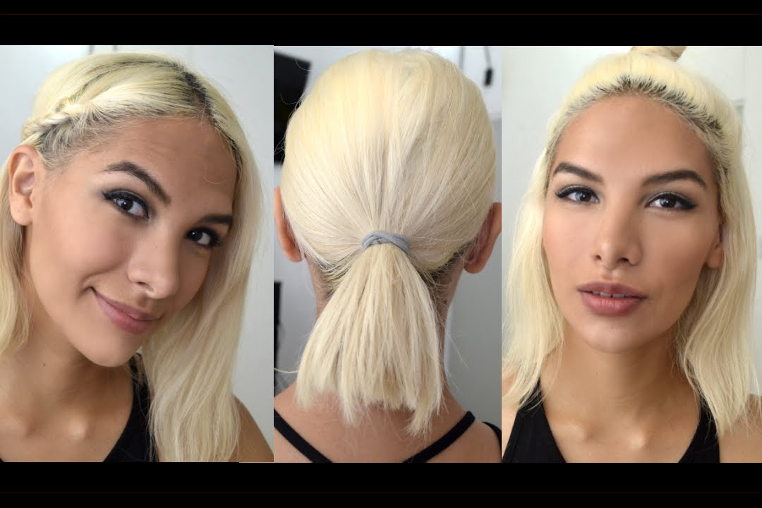 14 EASY HAIRSTYLES FOR SHORT HAIR (NO HEAT) - YouTube