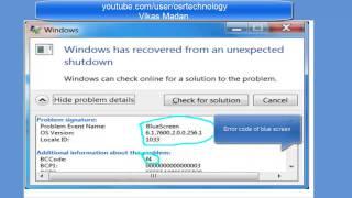 how to fix blue screen error in windows 7