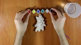 ASMR Plaster sculptures, Toy cat, Unboxing / АСМР Игрушка из гипса. Кот Баюн.
