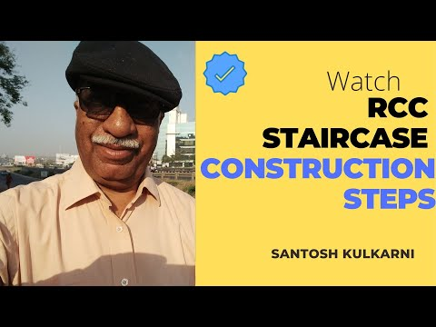 Casting of a RCC staircase :