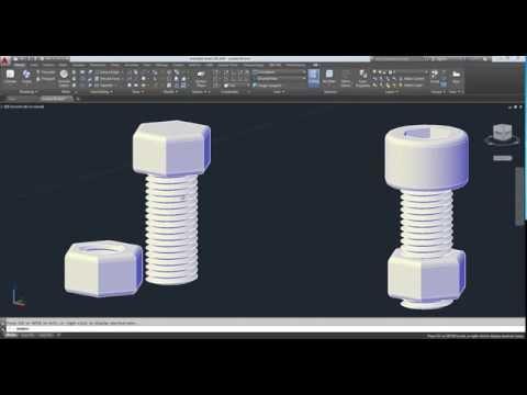 AutoCAD 2016  3D การสร้างน๊อต