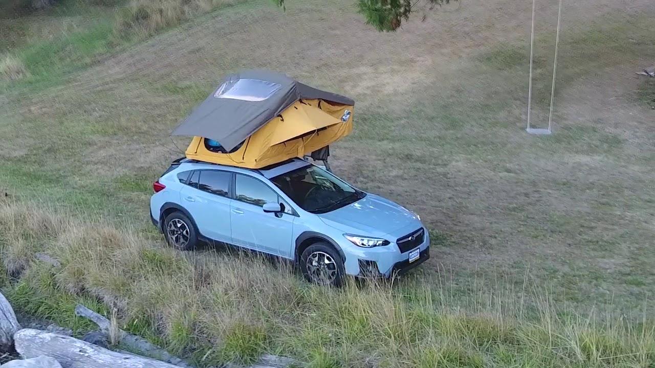 Treeline Outdoors Tent On Subaru Crosstrek