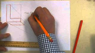 draw the letter l in 1 point perspective