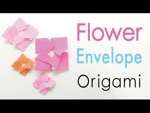 Origami Paper Square Flower Letter Envelope Simple