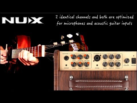 Nux Stageman Acoustic Guitar Amplifier Youtube
