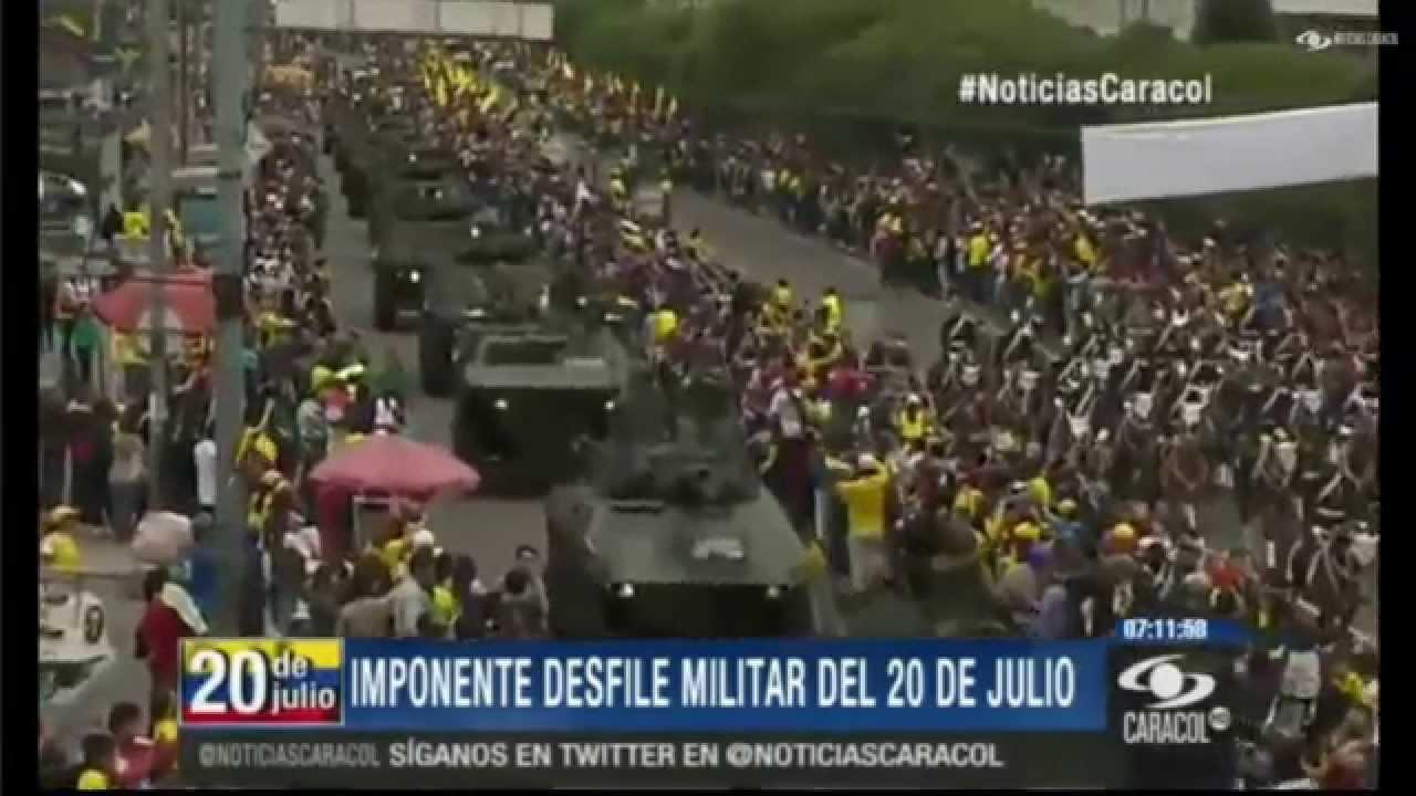 Imponente desfile militar de independencia de colombia 20 for Jardines 20 de julio bogota