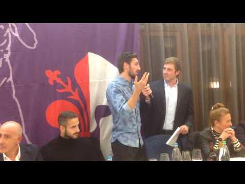 Luca Lezzerini e Davide Astori alla cena dei Viola Club
