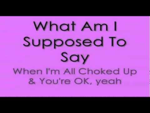 Break Even karaoke instrumental by The Script with on screen lyrics
