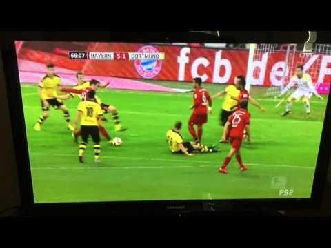 Bayern munich vs Borussia Dortmund 5-1 mario gotze