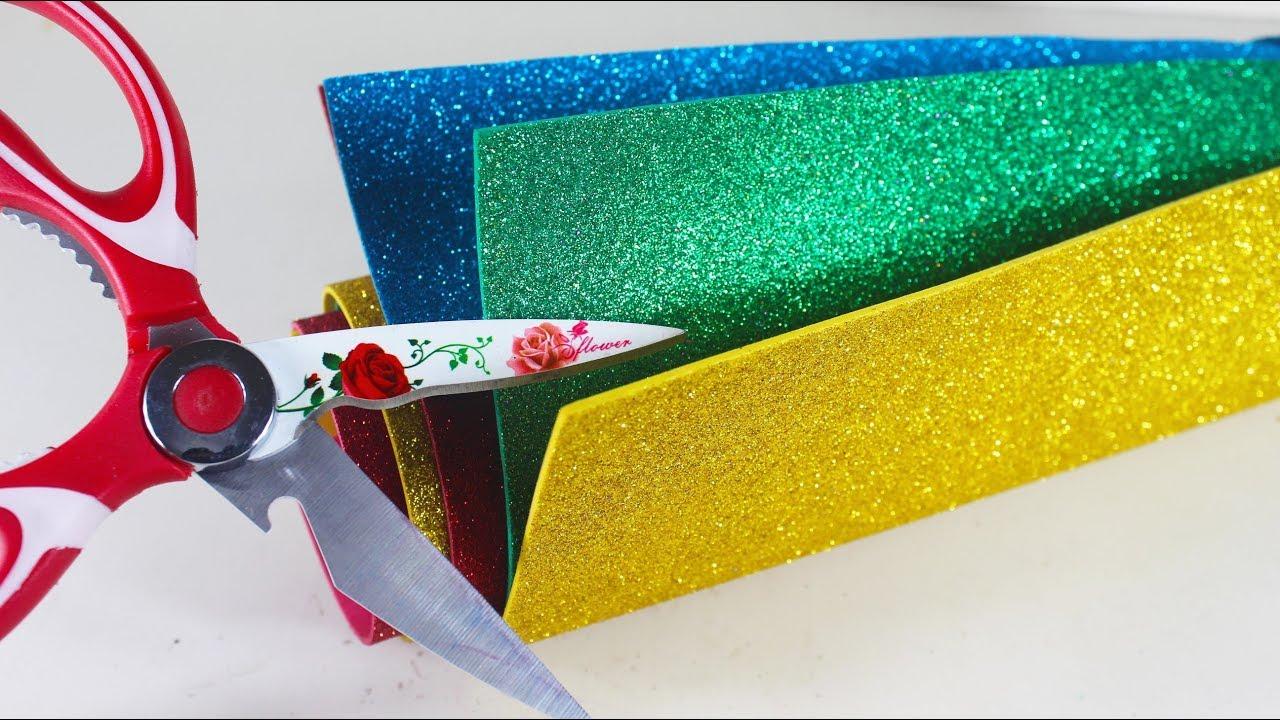 Diy Art And Craft With Glitter Foam Sheet Best Craft Ideas Youtube