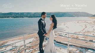 Marat + Natalie's Wedding Highlights at De Luxe Hall st Leon Church and Big Bear