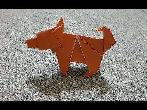 ORIGAMI - Hướng dẫn cách gấp con chó bằng giấy - paper folding dog