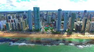 Recife em 4k - Boa viagem - Drone phantom 3 4k - Pernambuco - Brasil