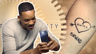 WILL SMITH FINALLY GOT THE CHANCE TO ADMIRE HIS TATTOO DESIGN