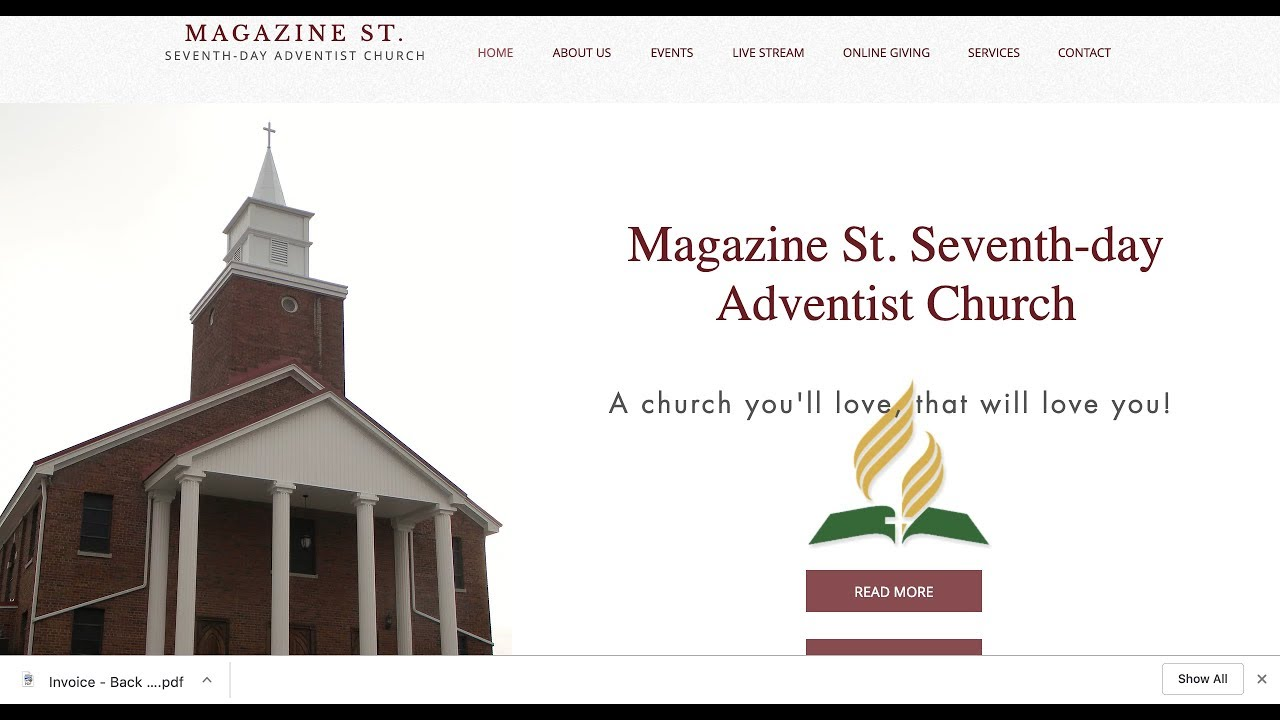 Church | Magazine St  Seventh Day Adventist Church | United States