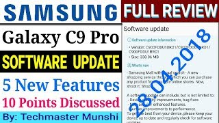 Samsung Galaxy C9 Pro Got New Software Update - Full Review In Hindi || By Techmaster Munshi