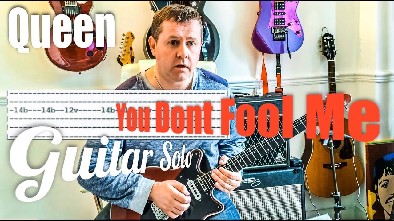 queen you don 39 t fool me guitar solo tutorial guitar tab youtube. Black Bedroom Furniture Sets. Home Design Ideas