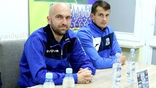 Mazurkiewicz i Chełchowski (MKS Przasnysz) o meczu z Koroną Ostrołęka