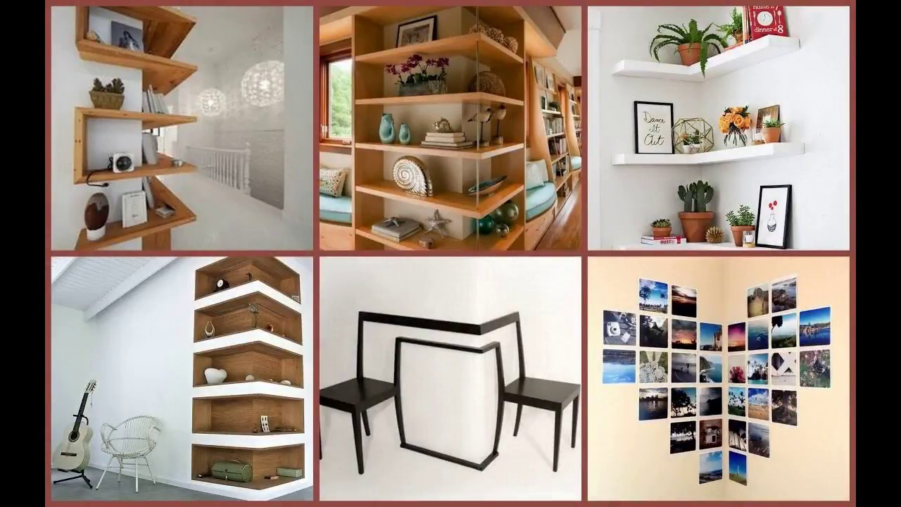 Corner Wall Decor Ideas DIY 2018 | Framing Cabinet Hanging ...