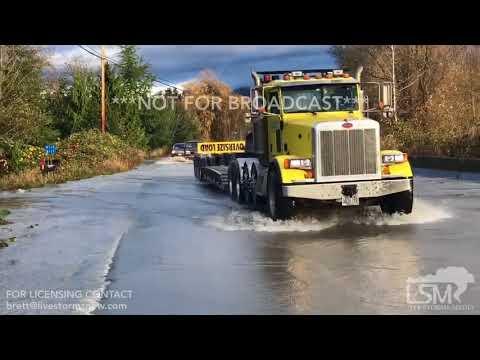 11-22-2017 Arlington, Washington - Major River Flooding