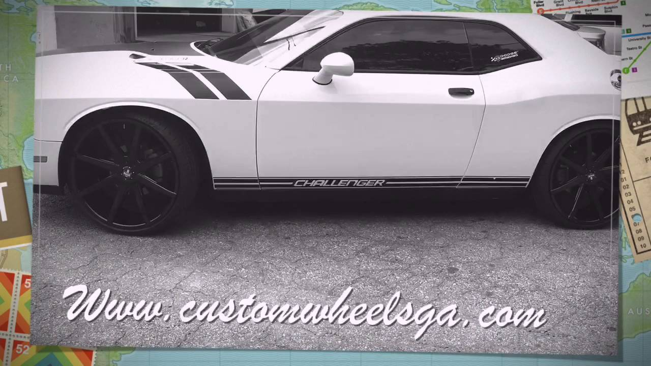 2013 Dodge Challenger Sitting On 24 Dub Push Wheels Leaving Rimtyme