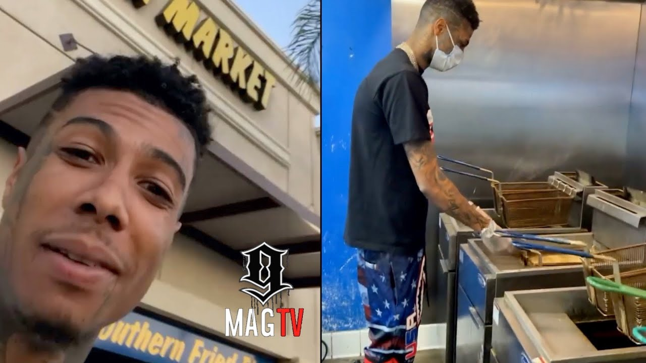 Blueface Opens Up His Own Fish & Soul Food Restaurant! 👨🏾🍳