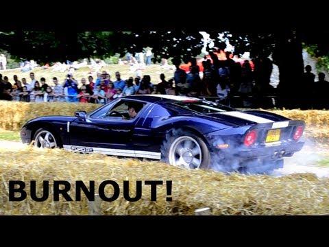 Jeremy Clarksons Old Ford Gt Mega Burnout