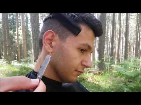 🌲💇Haircut ASMR in the forest | ASMR SOUNDS | ASMR BARBER
