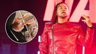 What did violins add to Shinsuke Nakamura's iconic entrance?