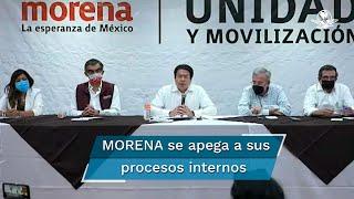 El dirigente nacional de Morena señaló que los partidos políticos no están facultados para llevar procesos judiciales ni abrir carpetas de investigación; dijo que la Comisión Nacional de Elecciones trazará la ruta de reposición de la elección de su candidato en Guerrero