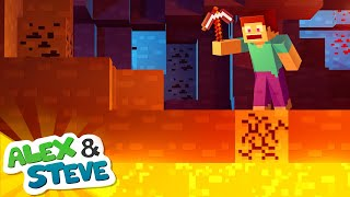 👀 STEVE GETS CRUSHED?! | The Minecraft Life of Alex and Steve | Minecraft Animation