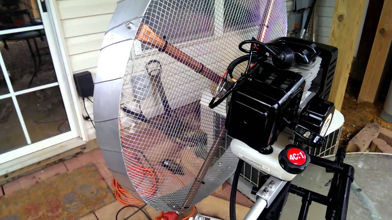 43cc airboat motor for raft youtube for How to build an airboat motor