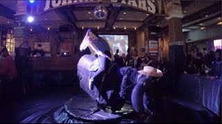 riding a mechanical bull for the first time day 19