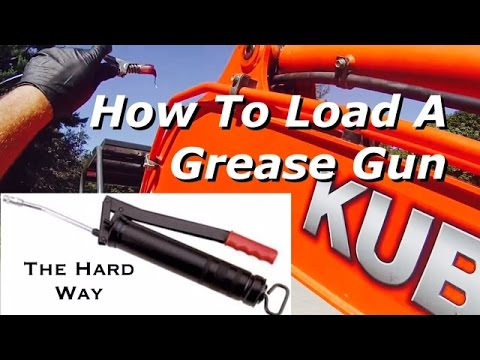 How To Load Refill A Grease Gun Cartridge Video Bundys Garage