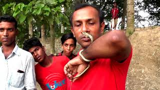 BD Snake Master Razzak Biswash Bare Handed  Fly Snake Catching Videos New Episode-02|05|2018 | HD