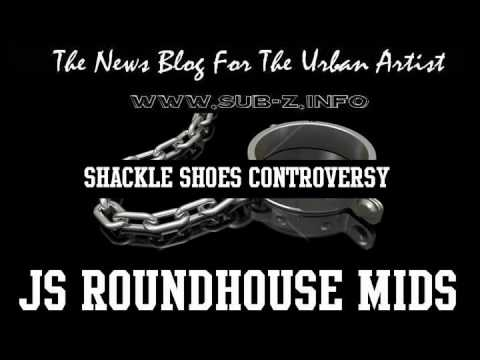 pretty nice a22b0 7ae47 Adidas  JS RoundHouse Mids  Shackle Shoes Controversy - YouTube