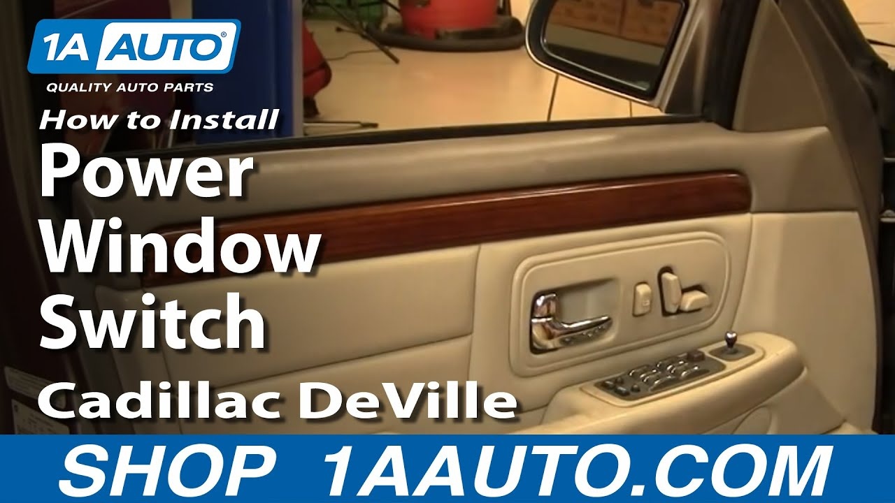 How To Install Replace Power Window Switch Cadillac