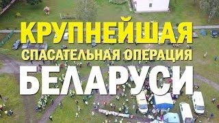 Крупнейшая спасательная операция Беларуси. Поиски ребенка в Беловежской пуще. Видео с дрона.