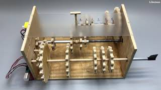 How to make 5 Speed Gearbox +R from plywood