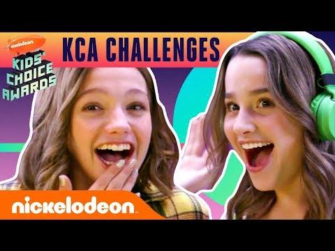 Annie LeBlanc & Jayden Bartels Take on the Kids Choice Awards Challenge! | Nick
