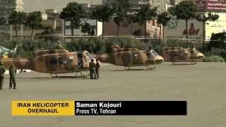 Iran overhauled 20 helicopters of different models_June 2, 2014_بازسازي بيست بالگرد گوناگون ايران