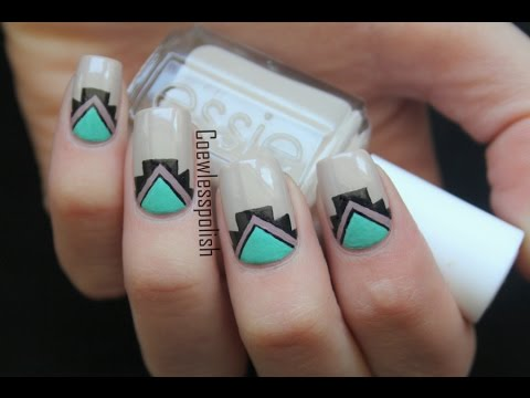 simple tribal nail art  youtube
