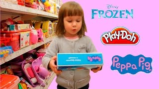 Julia doing Shopping in the toy store