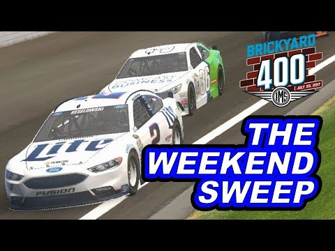 THE WEEKEND SWEEP??? [ 2017 Brickyard 400] NASCAR Heat Evolution Career Mode [S2 Race #20]