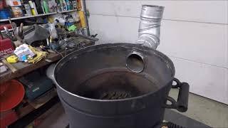 Печка под казан или БУРЖУЙКА? ОБЗОР. Компактная,высокая теплоотдача.