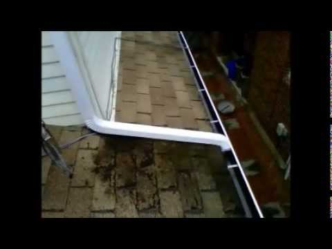 Correct Downspout Installation On Lower Roof Youtube